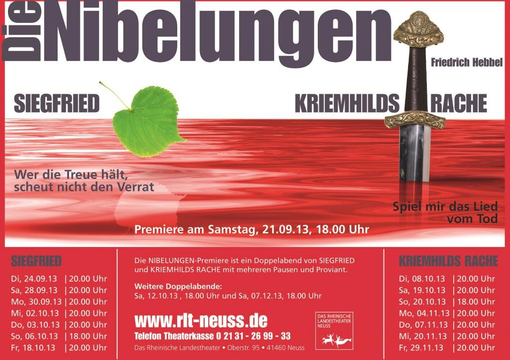 Nibelungen Plakat Doppelabend